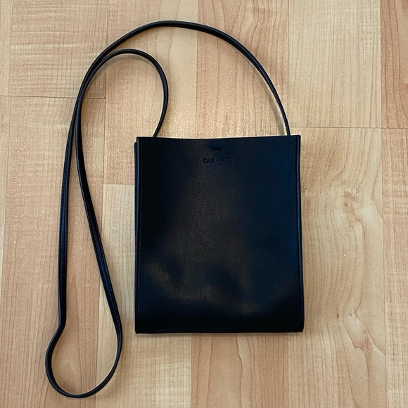 Oak & Fort Black Crossbody Pouch